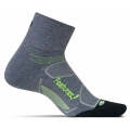 Heather Gray/Reflector - Feetures! - Elite Max Cushion Quarter