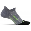 Heather Gray/Reflector - Feetures! - Elite Max Cushion No Show Tab