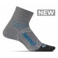 Gray/Hawaiian Blue - Feetures! - Merino+ Ultra Light Quarter