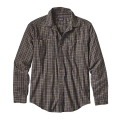 Leaf Lines: Navy Blue - Patagonia - Men's L/S Pima Cotton Shirt