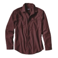 Blocked Out: Cinder Red - Patagonia - Men's L/S Pima Cotton Shirt