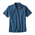 Micro Medusa: Big Sur Blue - Patagonia - Men's Back Step Shirt