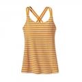 Vista Stripe: Sporty Orange - Patagonia - Women's Cross Back Tank