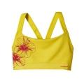 Waterflower Graphic: Blazing Yellow - Patagonia - Women's Active Mesh Bra