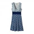 Banana Breeze Petite: Tubular Blue - Patagonia - Women's Margot Dress