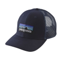 White w/Andes Blue - Patagonia - P-6 Logo Trucker Hat