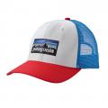 White w/Fire - Patagonia - P-6 Logo Trucker Hat