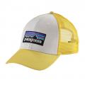 White w/Yoke Yellow - Patagonia - P-6 Logo LoPro Trucker Hat