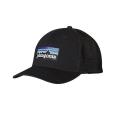 Black - Patagonia - P-6 Logo LoPro Trucker Hat