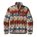 Timber Twist: Cinder Red - Patagonia - Women's LW Synch Snap-T P/O