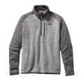 Nickel w/Forge Grey - Patagonia - Men's Better Sweater 1/4 Zip