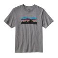 Gravel Heather - Patagonia - Men's Fitz Roy Banner Cotton T-Shirt