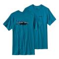 Grecian Blue - Patagonia - Men's Fitz Roy Tarpon Cotton T-Shirt
