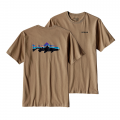 Mojave Khaki - Patagonia - Men's Fitz Roy Trout Cotton T-Shirt