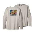 Brook: Tailored Grey - Patagonia - Men's Graphic Tech Fish Tee
