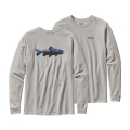 Tailored Grey - Patagonia - Men's L/S Fitz Roy Trout Cotton T-Shirt