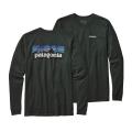 Carbon - Patagonia - Men's L/S P-6 Logo Cotton T-Shirt