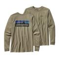 Trail Green - Patagonia - Men's L/S P-6 Logo Cotton T-Shirt