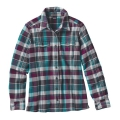 Bay Laurel: Forge Grey - Patagonia - Women's L/S Fjord Flannel Shirt