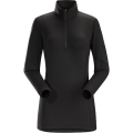 Black - Arc'teryx - Phase AR Zip Neck LS Women's