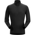Black - Arc'teryx - Phase AR Zip Neck LS Men's