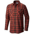 Fiery Red - Mountain Hardwear - Trekkin Flannel Long Sleeve Shirt