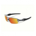 Silver/Fire Iridium - Oakley - Flak 2.0 Iridium Sunglasses - Men's