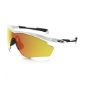 Polished White/Fire Iridium - Oakley - M2 Frame XL Iridium Sunglasses - Men's - Polished
