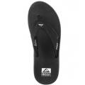 Black/Silver - Reef - Fanning Flip Flop - Men's-Black/Silver-8