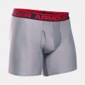 True Grey Heather / Red - Under Armour - Men's Original Series 6 Inch Boxerjock