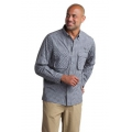 Black/Cement - ExOfficio - Men's Air Strip Micro Plaid Long Sleeve Shirt