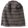 Black/Taupe Heather - Smartwool - NTS Mid 250 Reversible Pattern Cuffed Beanie