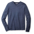 Drk Blue Steel Hthr - Smartwool - Men's Kiva Ridge V-Neck