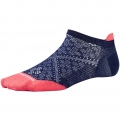 Ink/Bright Coral - Smartwool - Women's PhD Run Ultra Light Micro