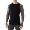 Black/Taupe Heather - Smartwool - Men's NTS Mid 250 Pattern Crew