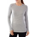 Light Gray Hthr/Natural - Smartwool - Women's NTS Mid 250 Pattern Crew