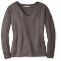 Taupe Heather - Smartwool - Women's Granite Falls V-Neck