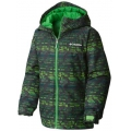Cyber Green Matrix Print - Columbia - Boy's Wrecktangle Insulated Hooded Jacket