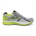 MetallicCharcoal/LimePunch/Silver - Brooks Running - Men's Ghost 8