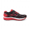 Black/HighRiskRed/Silver - Brooks Running - Men's Ghost 8