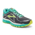 Anthracite/Aqua Green/Lime Punch - Brooks Running - Adrenaline GTS 16