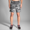 "Asphalt Haze - Brooks Running - Men's Sherpa 7"" 2-in-1 Short"
