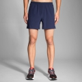 "Navy - Brooks Running - Sherpa 5"" Short"