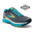 Silver/Blue Atoll/Lime Punch - Brooks Running - Women's Ghost 9