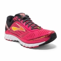 Azalea/Black/Cyber Yellow - Brooks Running - Ghost 9