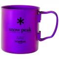Coral Purple PR - Snow Peak - Titanium Double Wall Cup