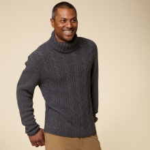 MARBLE CABLE TURTLENECK - REGULAR FIT by Royal Robbins