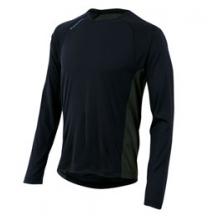 Flash Long Sleeve Run Top - Men's - Black/Shadow Grey In Size: Medium by Pearl Izumi