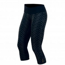 - W Flash 3/4 Tight Print - X-Small - Black Print/ Black by Pearl Izumi