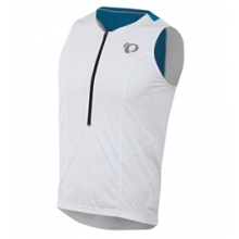 Select Relax Tri Singlet - Men's - White/Brilliant Blue In Size: Medium